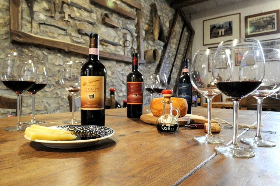 Degustación en la Toscana