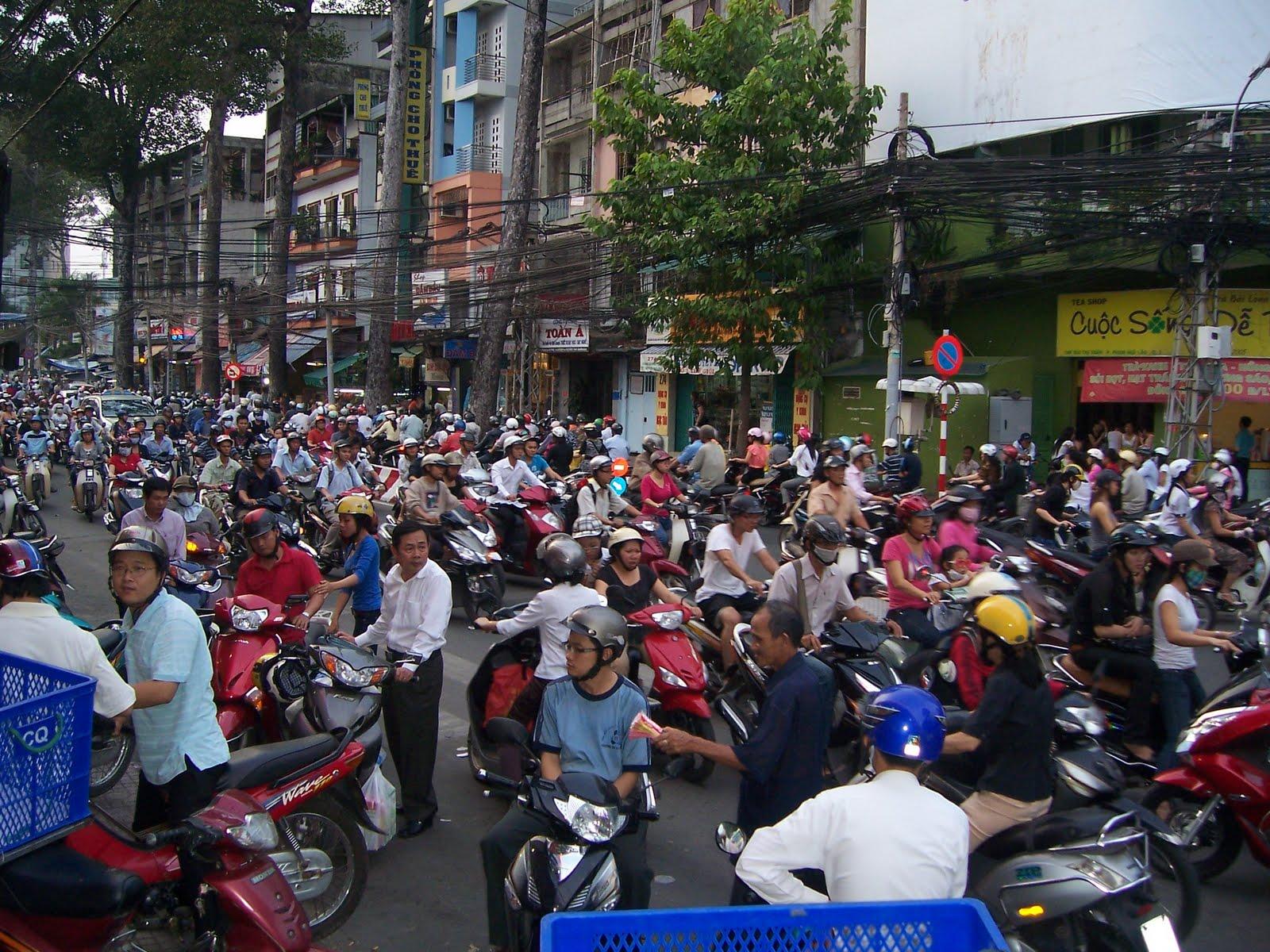 Motos en Ho Chi Minh