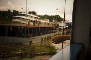 Barco en el rio amazonas