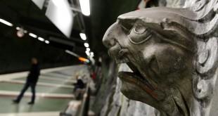 Cara en el tunnelbana