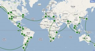 Mapa de la vuelta al mundo
