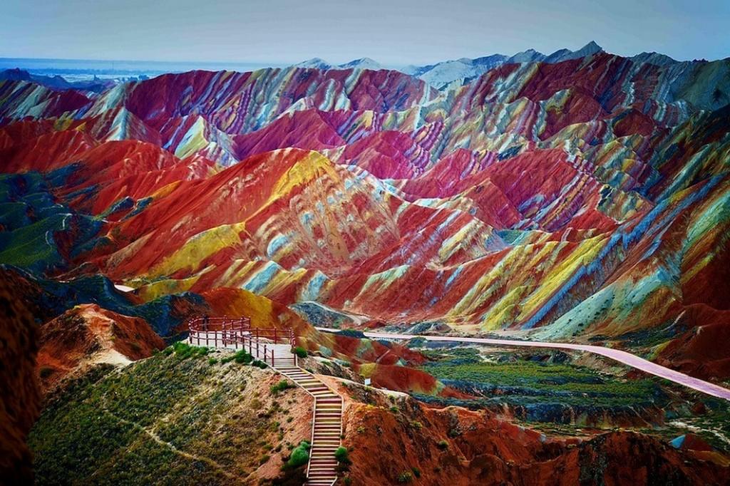 Montañas coloradas Danxia, Cina