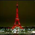 Torre Eiffel roja