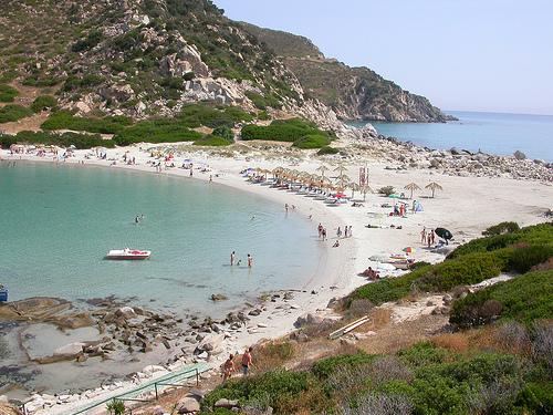 Playa punta Molentis de Villasimius
