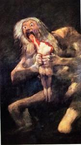 Saturno devorando a un hijo, el Prado