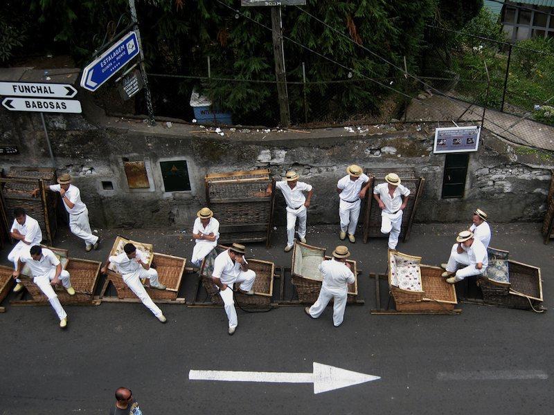 Carros de cesto, Madeira