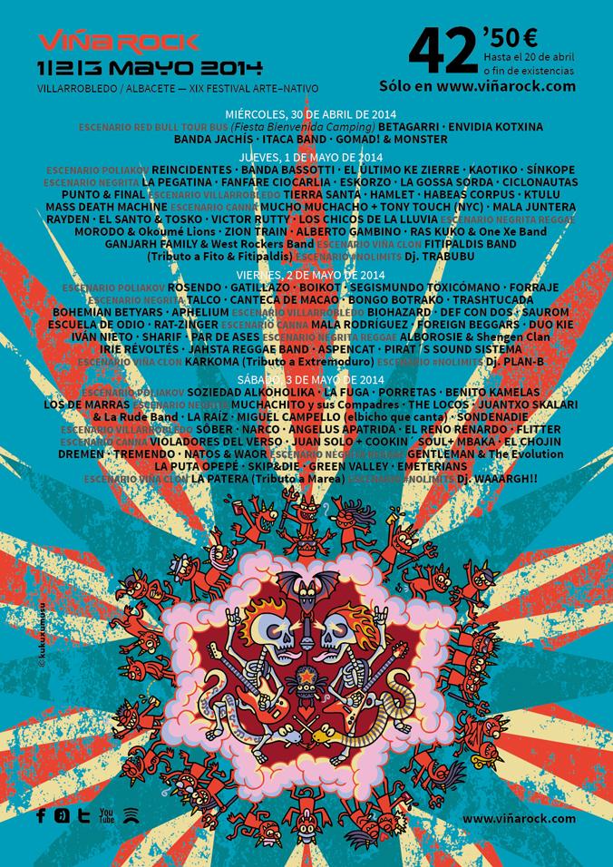 Viña Rock, cartel 2014