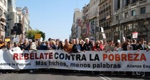 manifestacion contra la pobreza