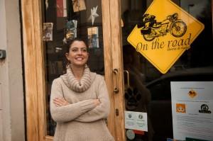 Martina en su librería, Florencia