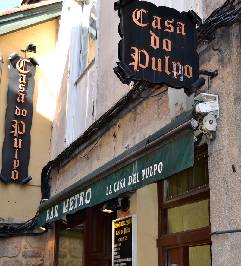 La casa do pulpo en Ourense