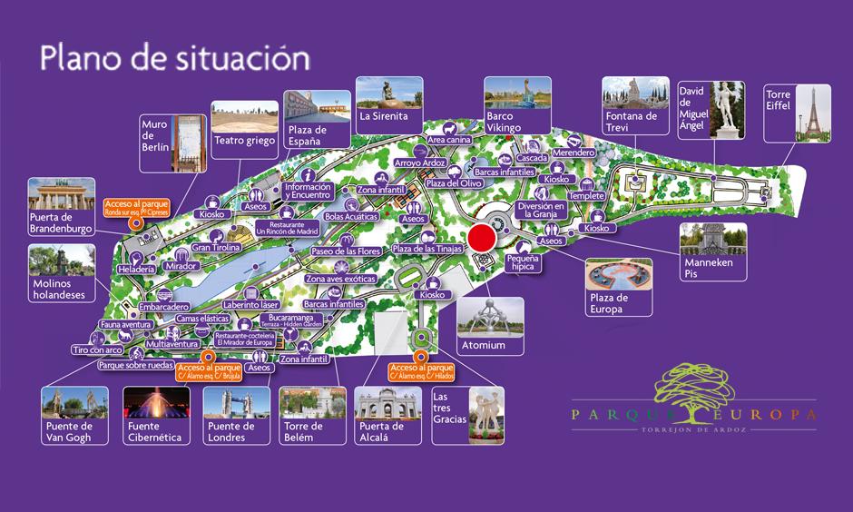 Plano parque europa