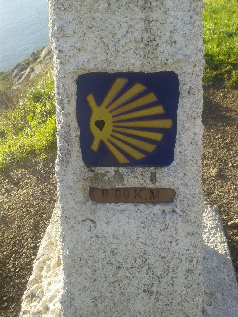 El km 0 del camino de Santiago, Fisterra