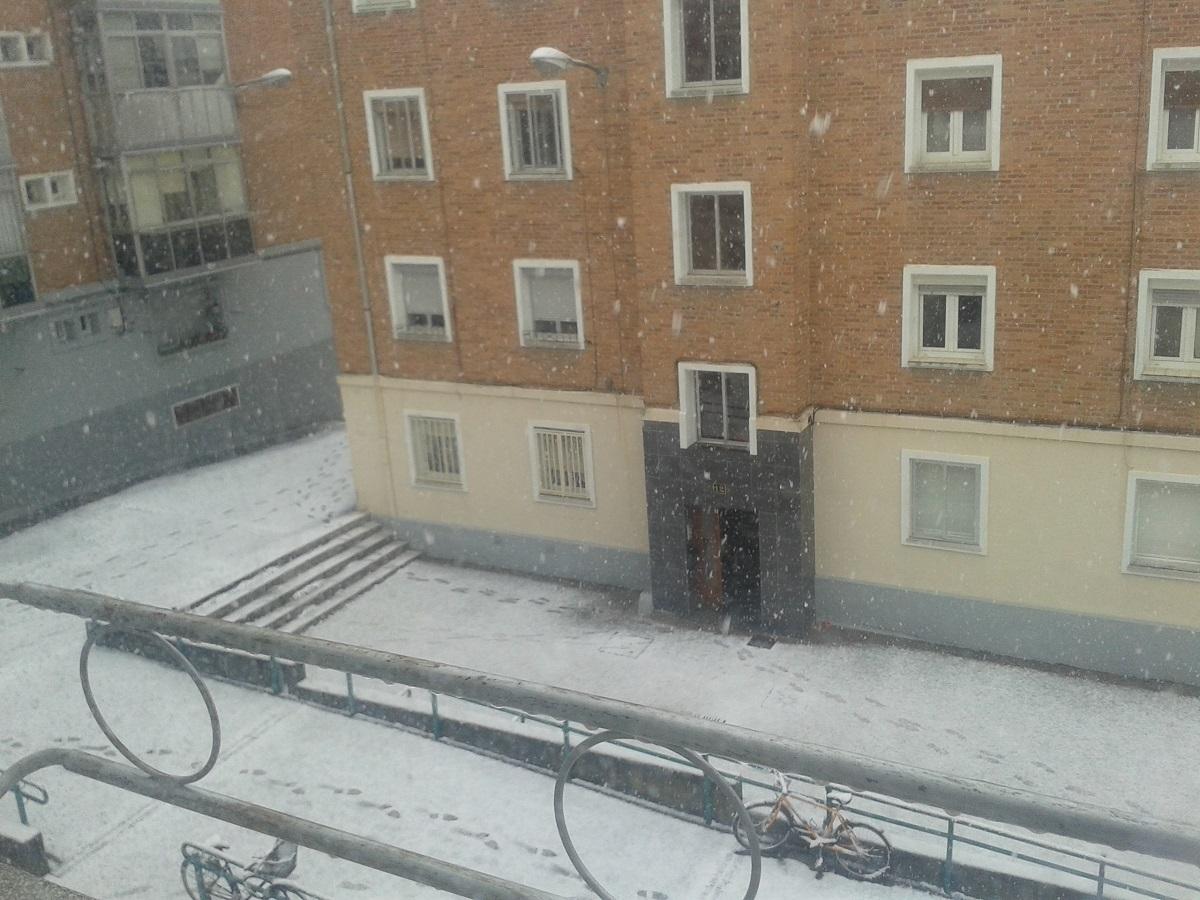 La vista desde la ventana de la casa de mi amiga en Vitoria