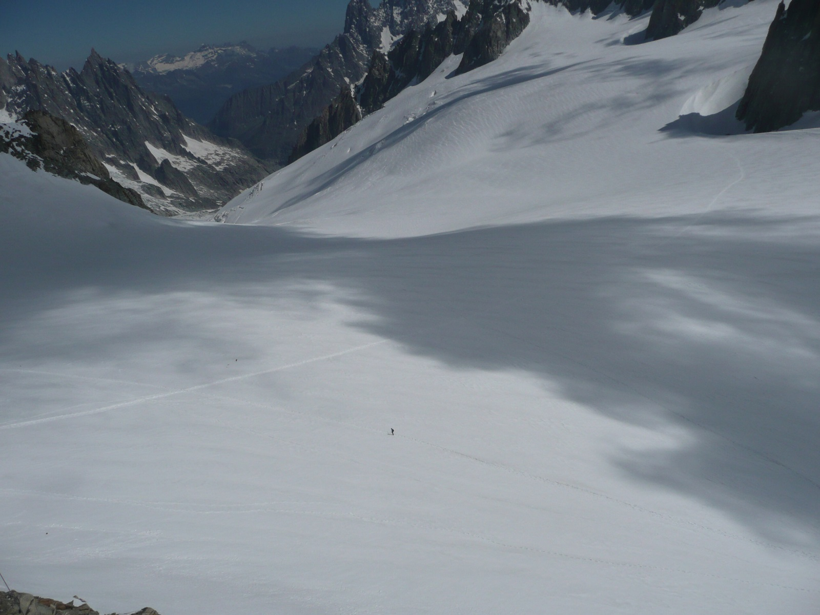 mer de glace - debajo de punta helbronner