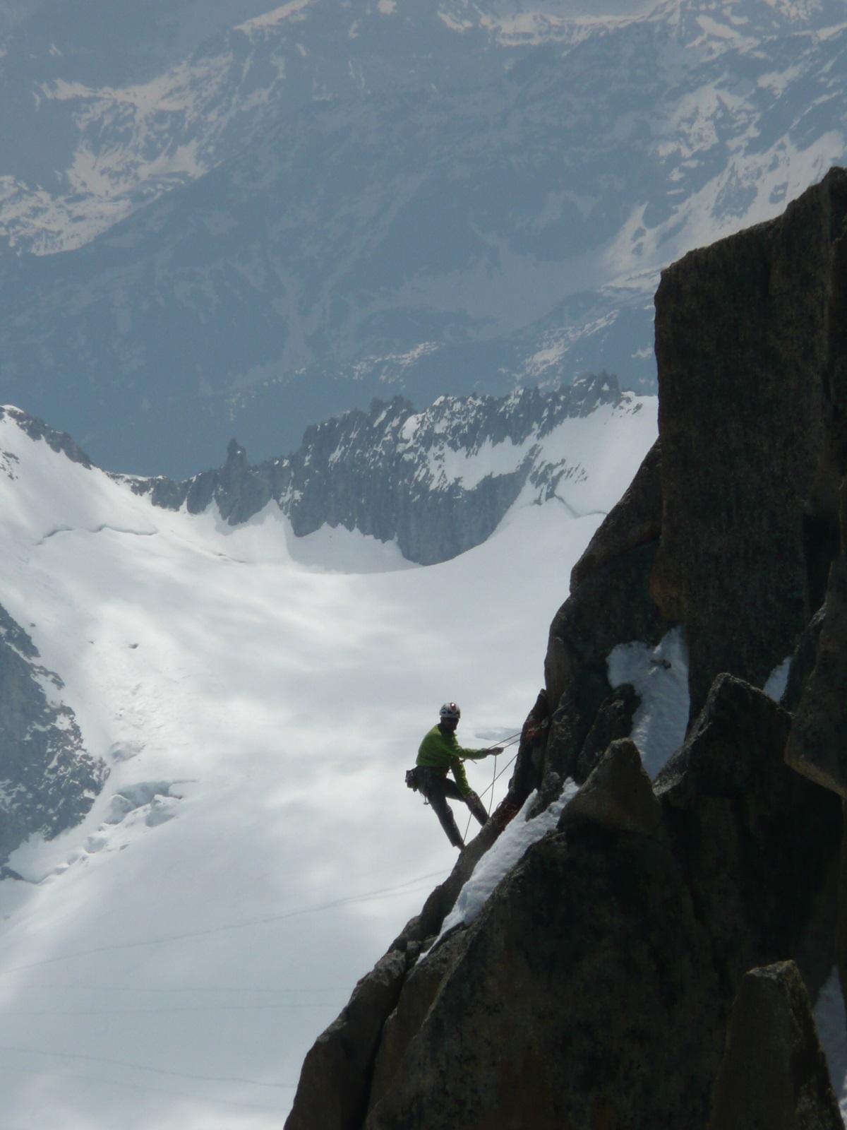 un escalador