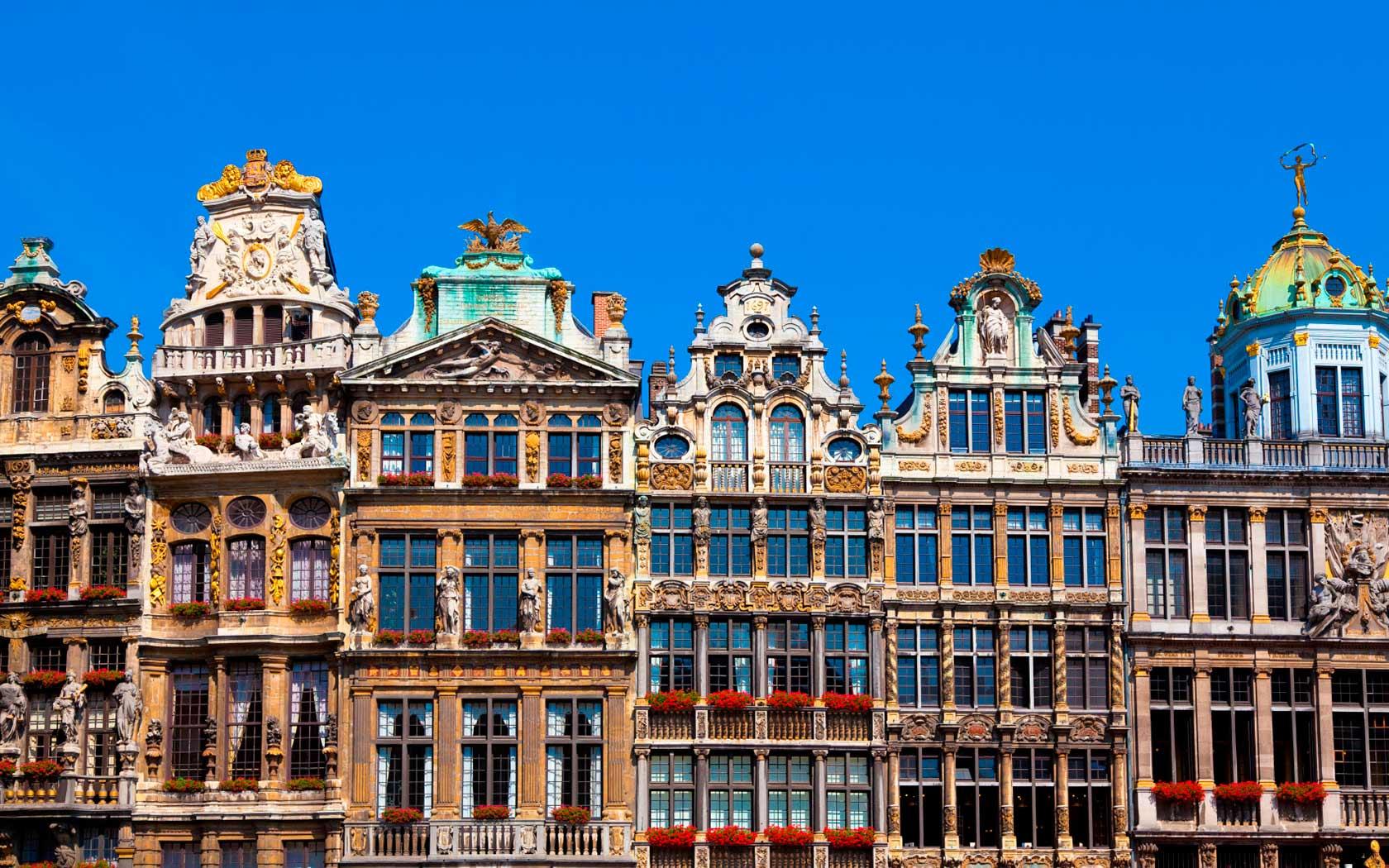 Unos edificios en Bruselas