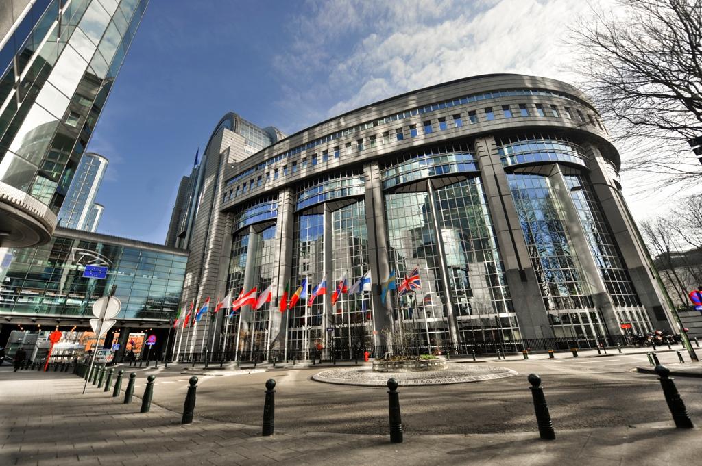 El parlamento europeo en Bruselas