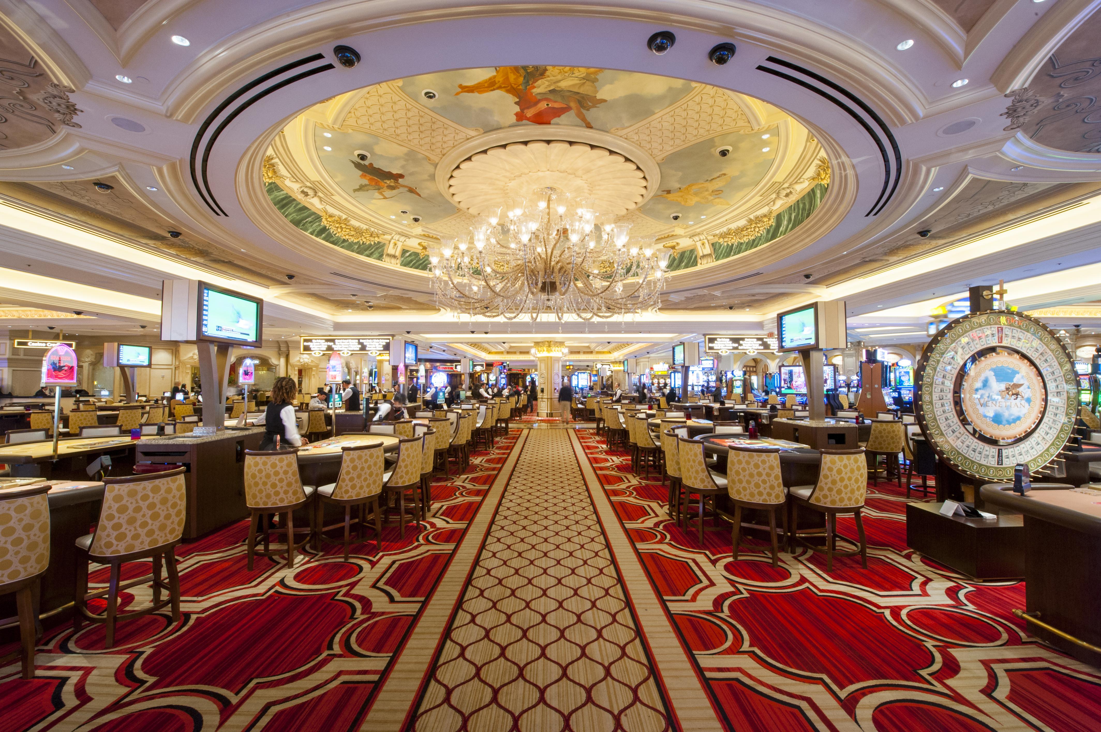 Las mesas de juego del casino Venetian Las Vegas