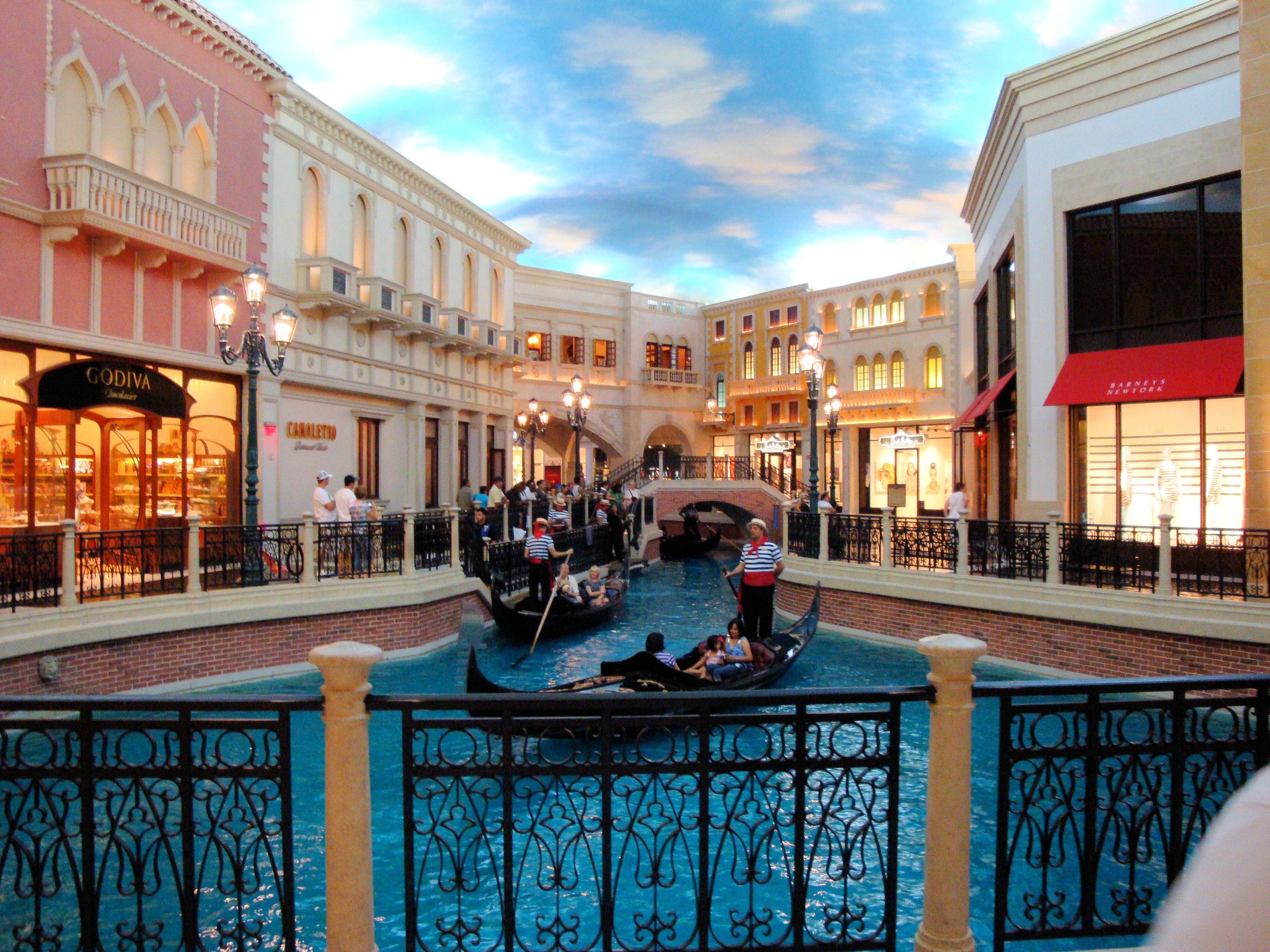 Canales venecianos del hotel Venetian, Las Vegas