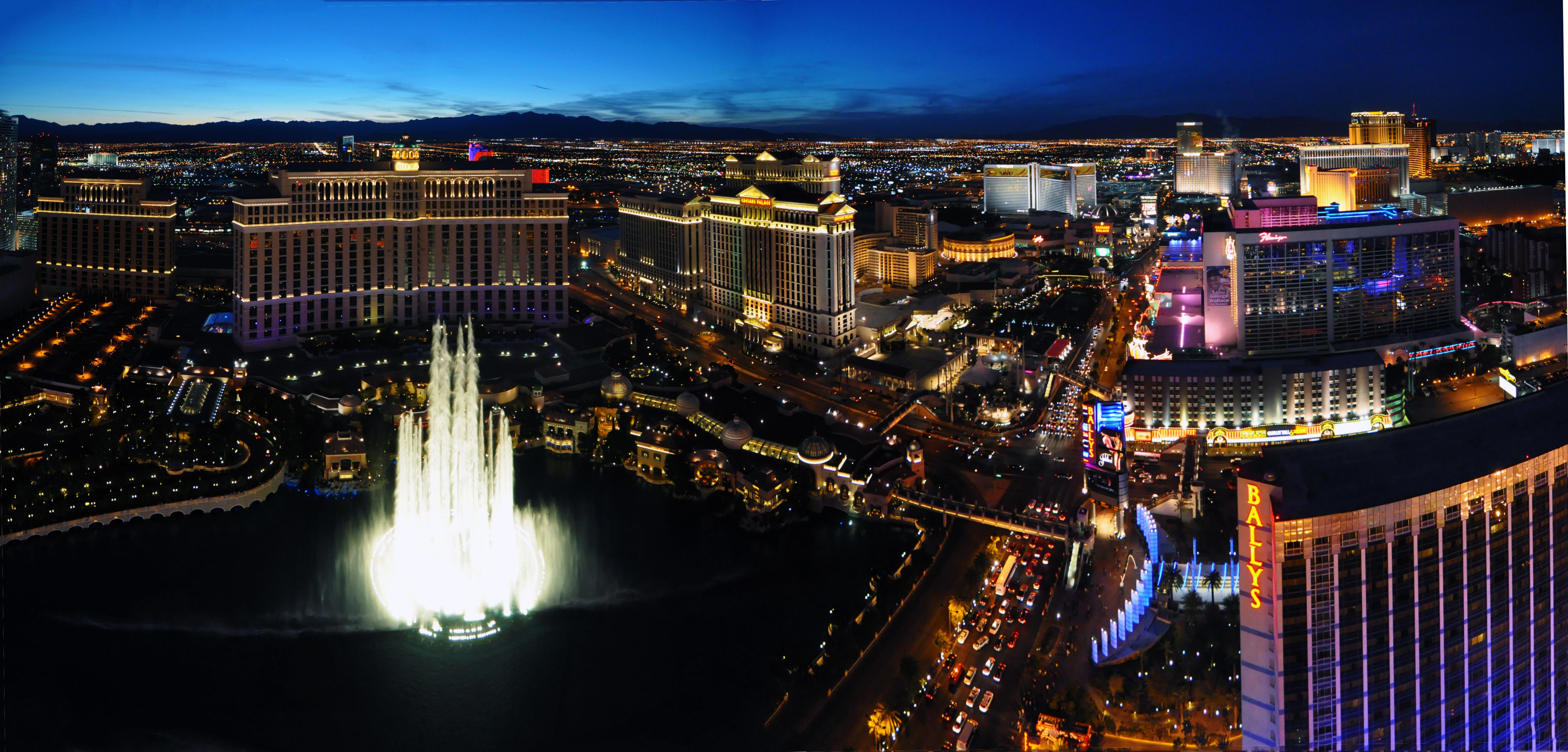 En el Strip se concentran la mayoría de casinos y hoteles
